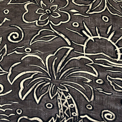 Paradise Sketch Rayon Shirting Taupe/Black - Fabric - Style Maker Fabrics