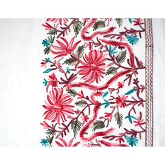 Double Border Embroidered Rayon Lawn Ivory - Sold Out - Style Maker Fabrics