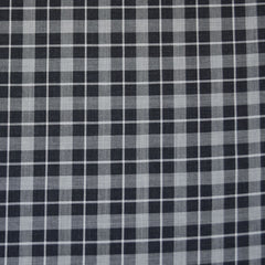 Japanese Square Plaid Twill Weave Shirting Black/Grey - Fabric - Style Maker Fabrics