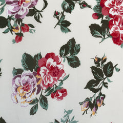 Vintage Floral Rayon Crepe Cream/Sage - Fabric - Style Maker Fabrics