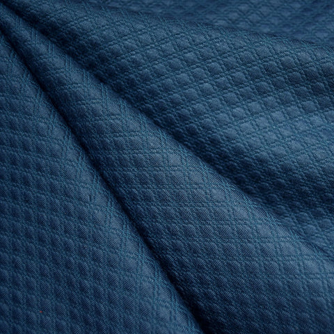 Diamond Quilted Double Knit Ocean
