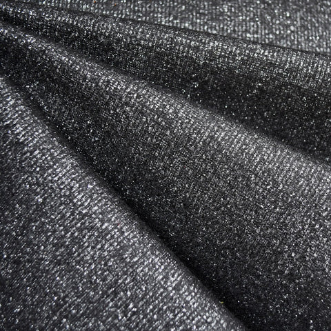 Metallic Plush Double Knit Black/Silver