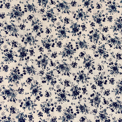 Dainty Vintage Floral Rayon Challis Almond - Fabric - Style Maker Fabrics