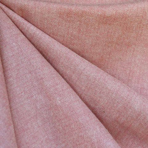 Cozy Cotton Flannel Herringbone Solid Rose