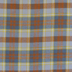 Cozy Cotton Flannel Layered Plaid Grey/Pumpkin - Fabric - Style Maker Fabrics