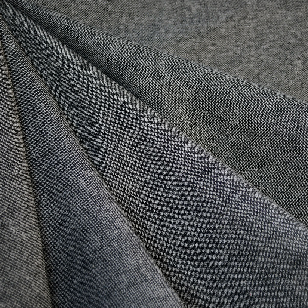 Essex Yarn Dyed Linen Blend Charcoal - Fabric - Style Maker Fabrics