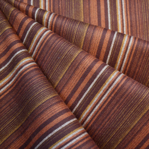 Tamarack Flannel Repeating Stripes Rust SY