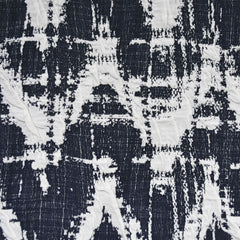 Distressed Chevron Double Knit Navy/Vanilla - Sold Out - Style Maker Fabrics