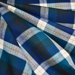 Autumn Plaid Flannel Shirting Teal/Blue SY - Sold Out - Style Maker Fabrics