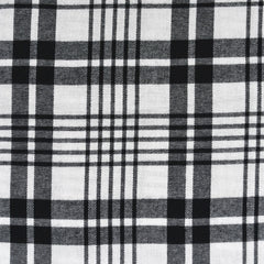 Bold Plaid Flannel Shirting White/Black - Fabric - Style Maker Fabrics
