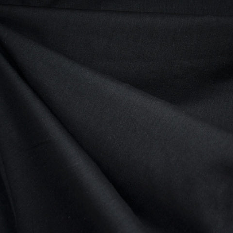 Cotton Voile Solid Black—Preorder
