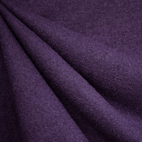 Boiled Wool Blend Coating Purple