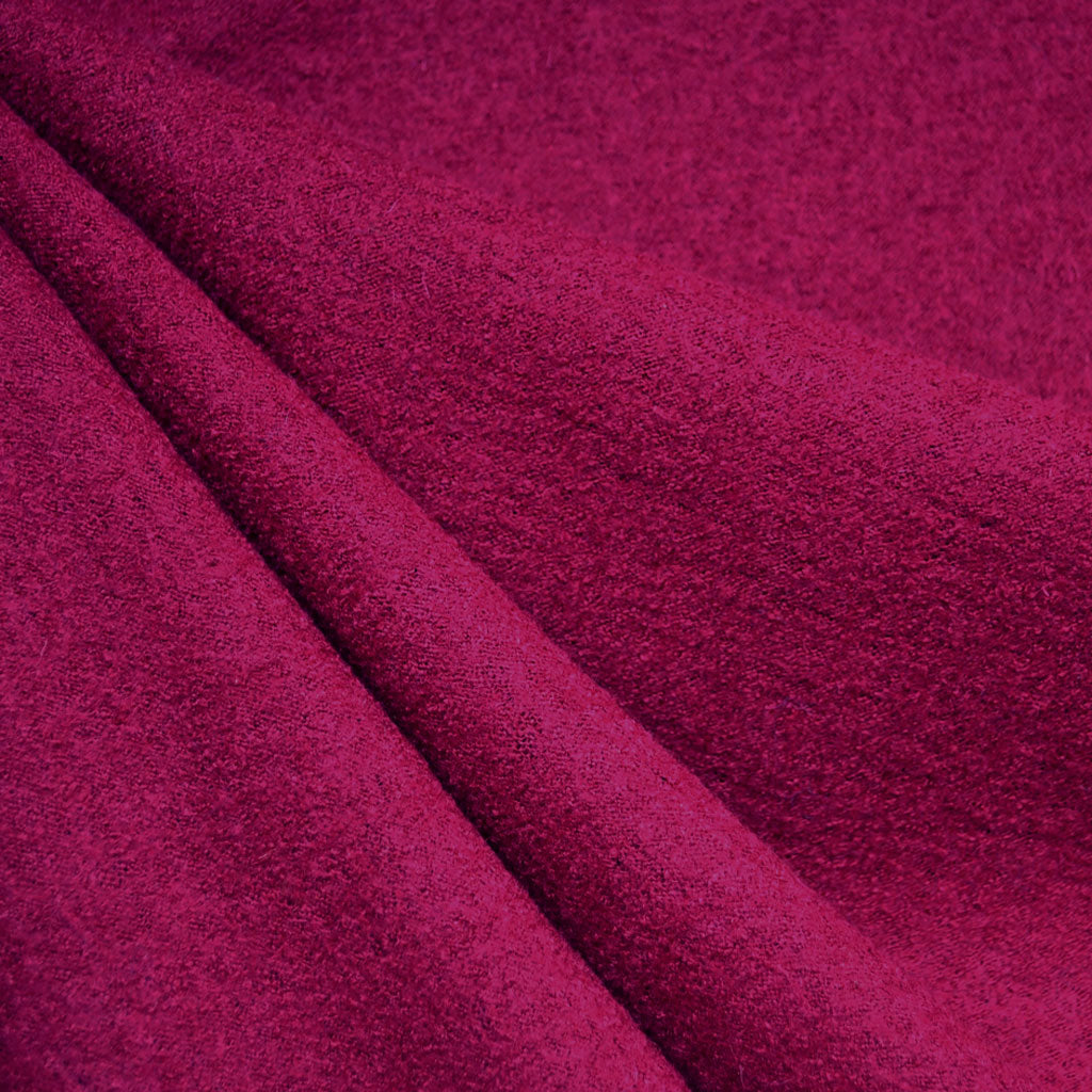 Boiled Wool Blend Coating Raspberry - Fabric - Style Maker Fabrics