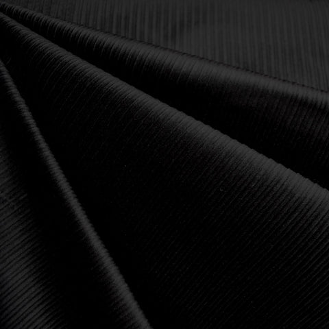 Wide Wale Stretch Corduroy Black