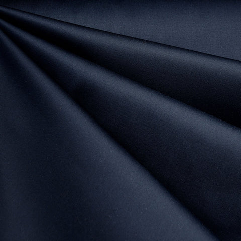 Classic Stretch Twill Solid Navy