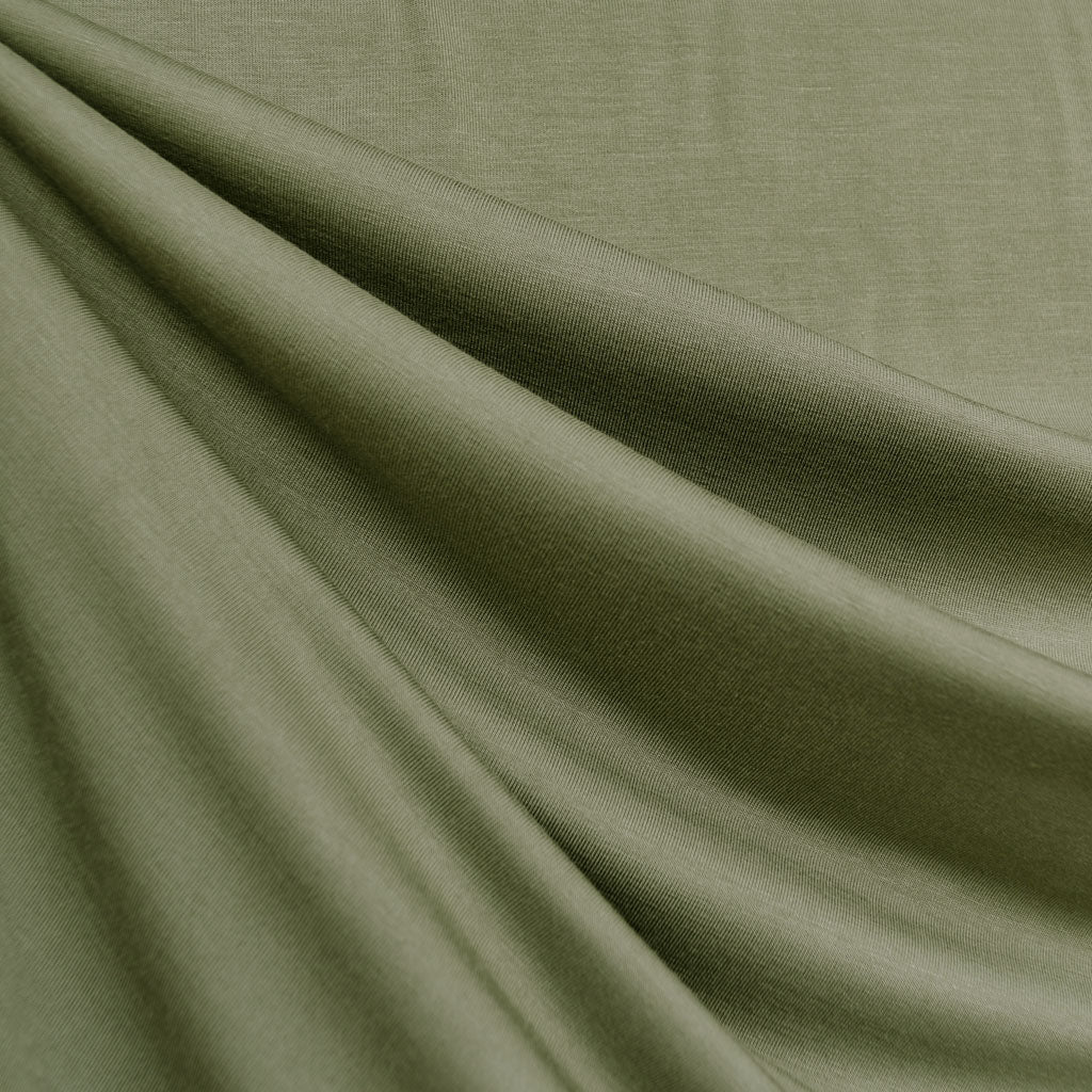 Bamboo Jersey Knit Solid Sage SY - Sold Out - Style Maker Fabrics