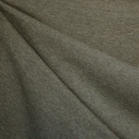 Organic Cotton Jersey Knit Heather Olive