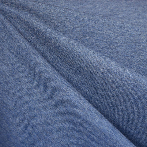 Organic Cotton Jersey Knit Heather Denim