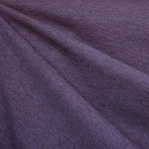 Organic Cotton Jersey Knit Heather Purple