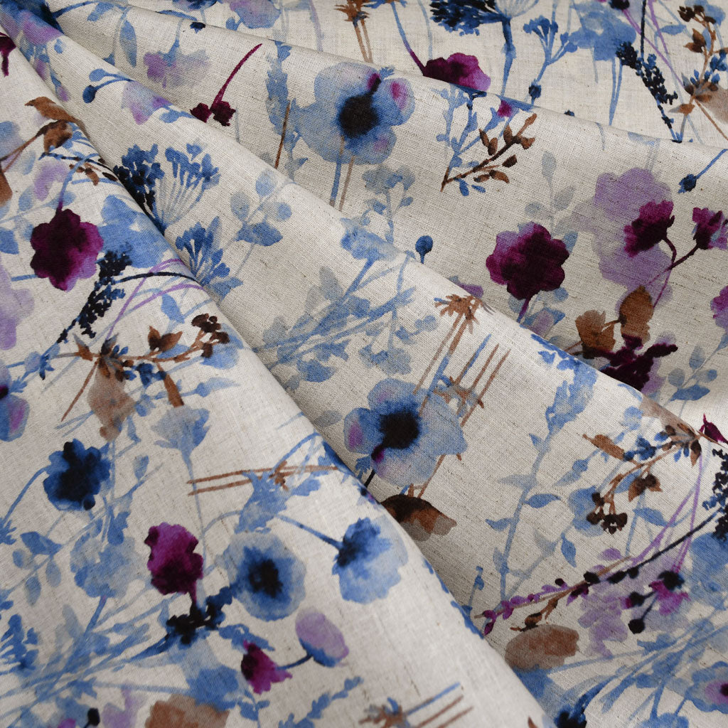 Japanese Kokka Watercolor Floral Lawn Natural - Fabric - Style Maker Fabrics