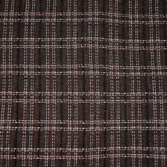 Japanese Yarn Dyed Textured Plaid Shirting Chocolate - Fabric - Style Maker Fabrics