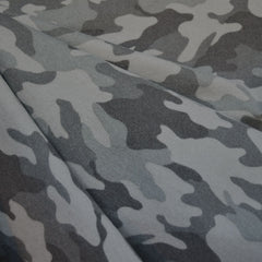 Cozy Camouflage Flannel Grey - Fabric - Style Maker Fabrics