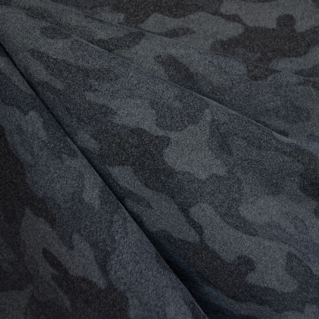 Cozy Camouflage Flannel Charcoal - Fabric - Style Maker Fabrics