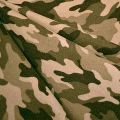 Cozy Camouflage Flannel Sand - Fabric - Style Maker Fabrics