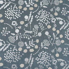 Japanese Echino Sprout Canvas Slate/Silver - Fabric - Style Maker Fabrics