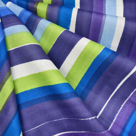 Japanese Nani Iro Grace Watercolor Stripe Double Gauze Purple