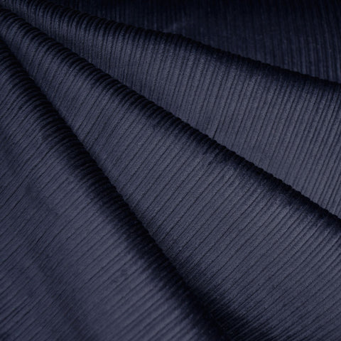 Wide Wale Stretch Corduroy Navy