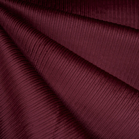 Wide Wale Stretch Corduroy Cranberry