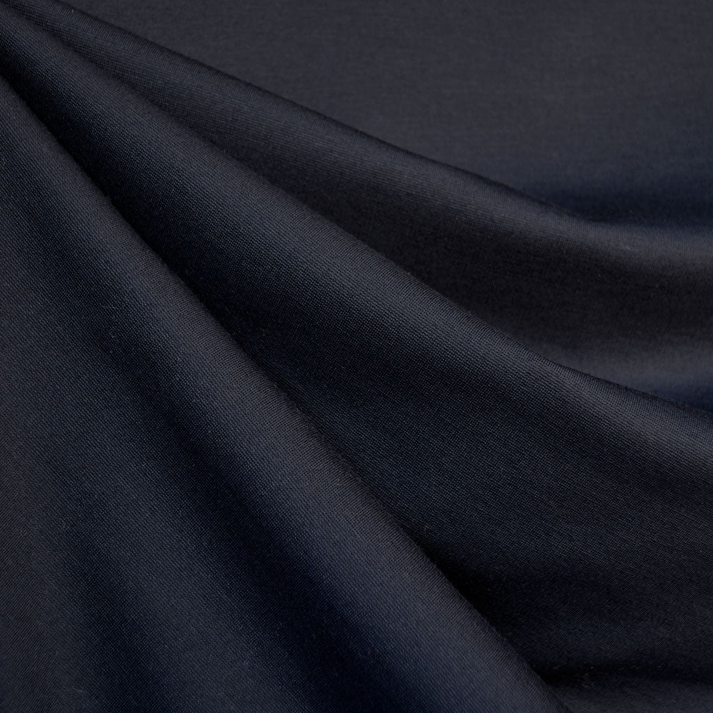 Classic Ponte Knit Solid Midnight Blue - Fabric - Style Maker Fabrics