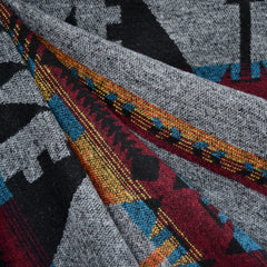 Southwest Inspired Wool Blend Coating Charcoal - Fabric - Style Maker Fabrics