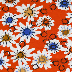 Moonrise Posy Jersey Knit Red - Sold Out - Style Maker Fabrics