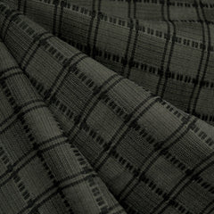 Grid Plaid Tencel Shirting Olive/Black - Fabric - Style Maker Fabrics