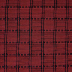 Grid Plaid Tencel Shirting Red/Black - Fabric - Style Maker Fabrics
