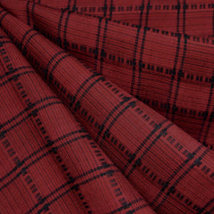 Grid Plaid Tencel Shirting Red/Black - Sold Out - Style Maker Fabrics