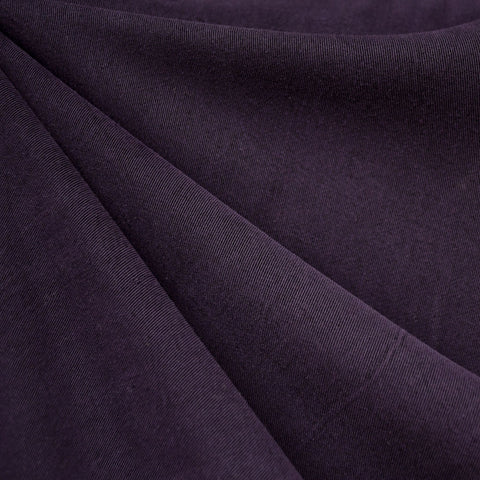 Soft Washed Tencel Twill Solid Deep Plum