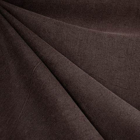 Soft Washed Tencel Twill Solid Chocolate