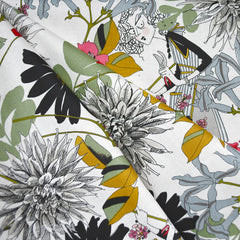 A Ghastlie Snip Floral Print Cotton Natural - Fabric - Style Maker Fabrics
