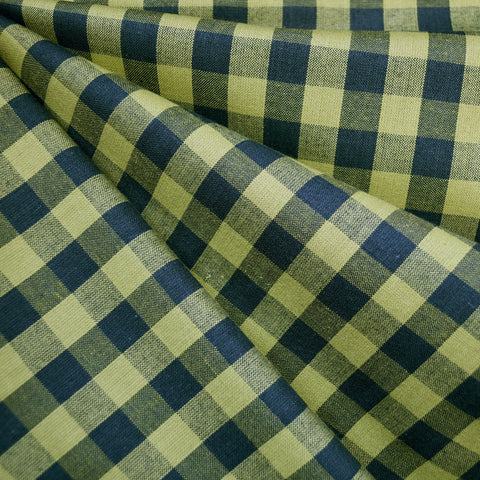 Oxford Check Shirting Olive/Charcoal