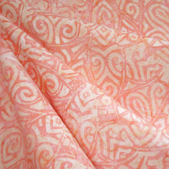 Tribal Leaf Rayon Batik Soft Coral - Sold Out - Style Maker Fabrics