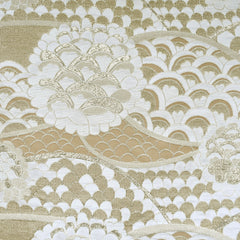 Asian Inspired Metallic Brocade Cream/Champagne - Fabric - Style Maker Fabrics