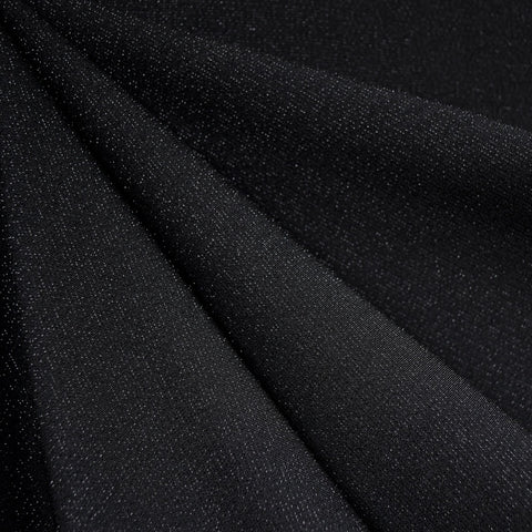 Touch of Sparkle Stretch Crepe Black
