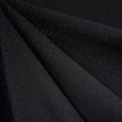 Touch of Sparkle Stretch Crepe Black - Fabric - Style Maker Fabrics