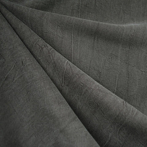 Soft Washed Tencel Twill Solid Charcoal