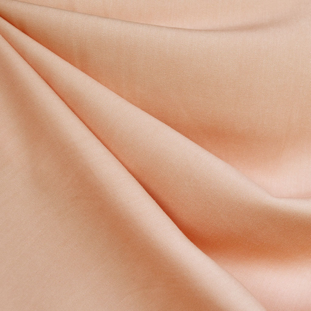 Soft Tencel Twill Solid Apricot - Fabric - Style Maker Fabrics