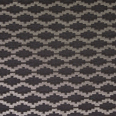 Metallic Geometric Jacquard Black/White Gold - Fabric - Style Maker Fabrics