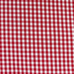 Summer Gingham Stretch Cotton Shirting Red/White - Fabric - Style Maker Fabrics